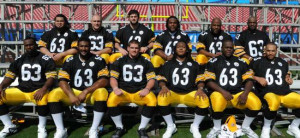 Steeler Linemen Honor Dirt