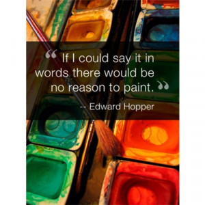 Inspirational Quote Art eGift Card - Edward Hopper