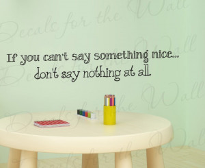 If you can't say something nice Bambi Wall Decal Quote