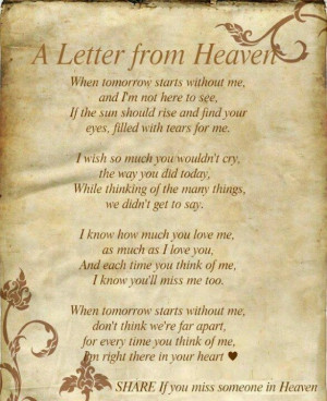 miss my mom who I know is now in Heaven