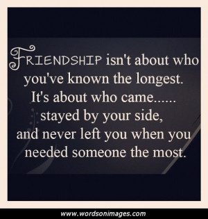 One sided friendship quote