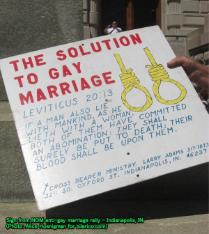 ... of NOM's increasingly violent attacks on gay families. Have you