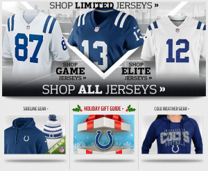 nfl player jersey ugly sweater indianapolis colts andrew luck