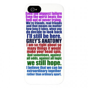 Grey's Anatomy Quotes iPhone 5 Case