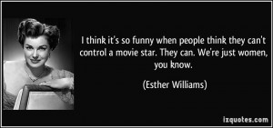 think it's so funny when people think they can't control a movie ...