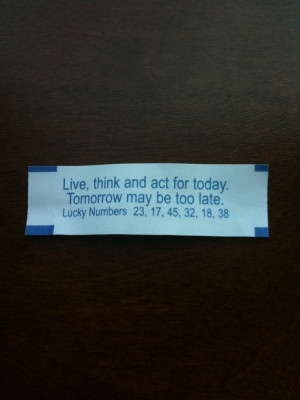 Wow! A Time Management Fortune Cookie
