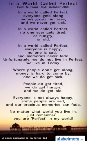 Poem: In A World Called Perfect