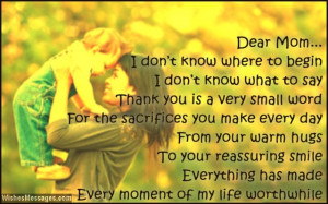 Thank You Messages for Mom: Thank You Notes