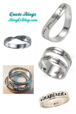 Rings With Quotes On Them Silver rings with quotes: 5