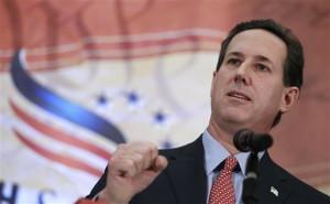 Rick Santorum mixes academia into presidential campaign speeches