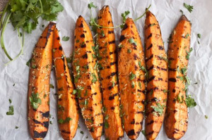 Grilled Cilantro-Lime Sweet Potatoes via Sweet Treats & More