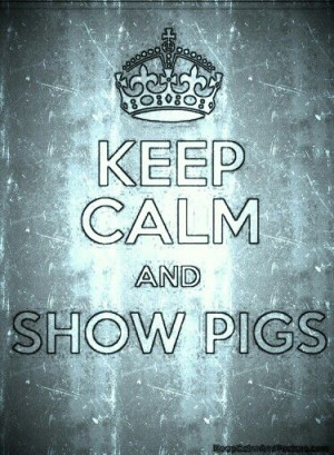 Keep calm and show pigs...October can't get here soon enough.