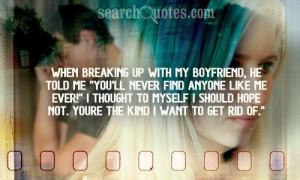 Boyfriend and Girlfriend Break Up Quotes