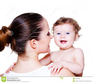 Royalty Free Stock Image: Woman holding baby
