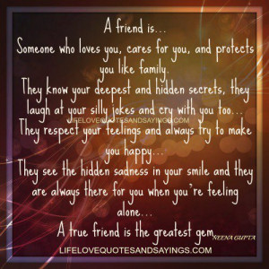 Someone who loves you..