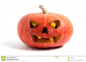 Royalty Free Stock Image: Pumpkin with halloween phrases
