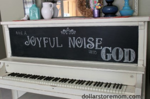 Piano chalkboard quote