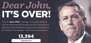 Dear John, It's Over!