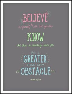 Mary Oliver Print, Believe in yourself, inspirational quotes, tween ...