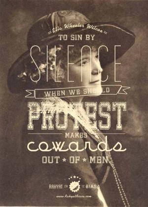rakyat biasa-Ella Wheeler Wilcox-protest