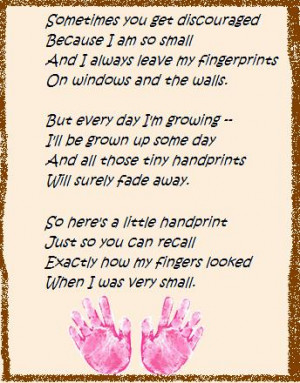 The Perfect Mother's Day Craft!! Poem with your child's handprints at ...