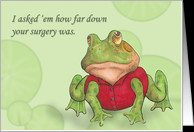 Knee Surgery Group Humor card - Product #586750