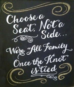 Hand Drawn Chalkboard // Wedding Sign // Choose a Seat