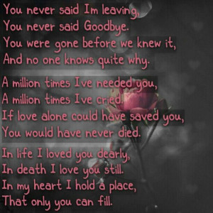 ... the loss of a loved one. Reminds me so much of my uncle Troy