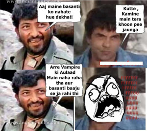 sholay movie funny images