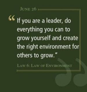 if you are a leader, grow yourself ...
