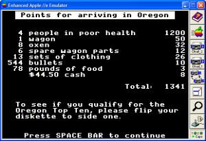Oregon Trail Game Original