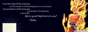 Goku Dragon Ball Z Inspirational Quotes