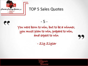 PTS Top 5 sales quotes