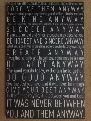 Mother Teresa Canvas Quote