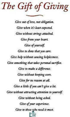 giving quotes via living life at www facebook com more giving quotes ...