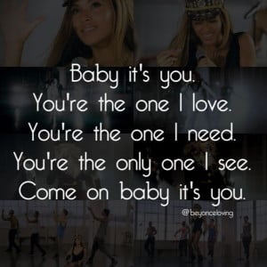 Top Quotes From Love Songs ~ Beyonce - Love On Top (song lyrics ...