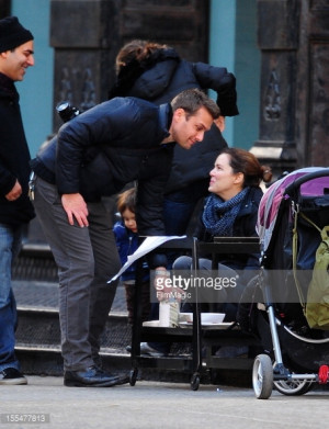 Gabriel Macht and Jacinda Barrett are seen in Tribeca on November 4 ...