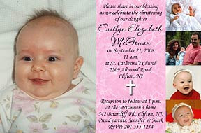 baby background invitation A white cross graces a sky blue Christening ...