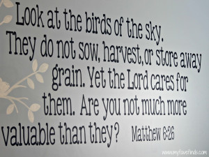 Church Nursery Wall Quote