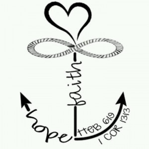 love infinity anchor tattoo!Faith And Hope Tattoos, Cross Infinity ...