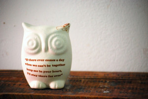White owl with winnie the pooh quote - friendship. $32.00, via Etsy.