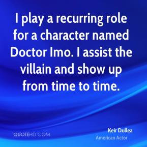 Keir Dullea - I play a recurring role for a character named Doctor Imo ...
