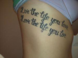 Love and Life Tattoo