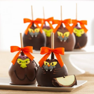 Halloween Mini Spooky Caramel Apples, Set of 4 / Williams-Sonoma on ...