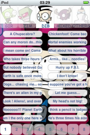 Gir invader Zim Dib Gaz 880+ sounds and quotes pro iPhone App & Review