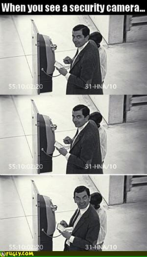 Mr Bean Security Camera