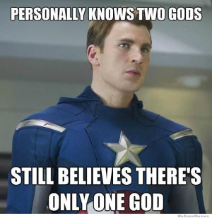 Captain America Logic: Personally knows two Gods – still believes ...