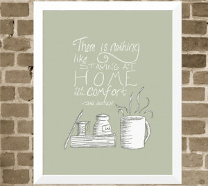 Jane Austen Quote - 11x14 Book Lover Word Art Home Print - Coffee Mug ...