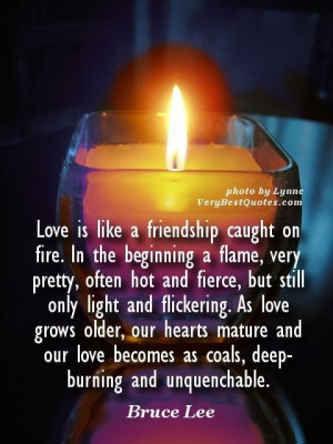 ... quotes love is like a friendship caught on fire. in the beginning a