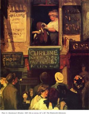 ... , John French, Ashcan Schools, John Sloan, 1907, Hairdressers Windows